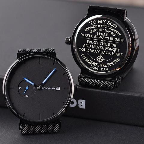 Men personalized ,stainless steel quartz watch