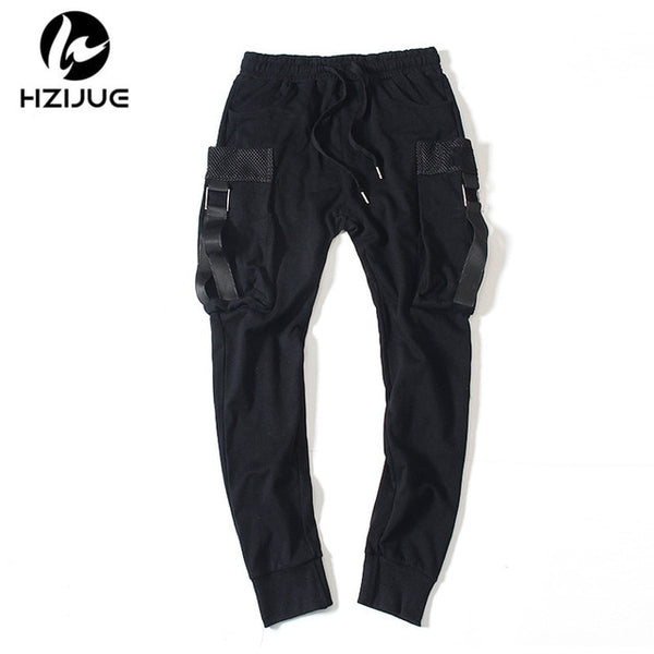 Men Hip Hop Design Big Pocket Sweatpants