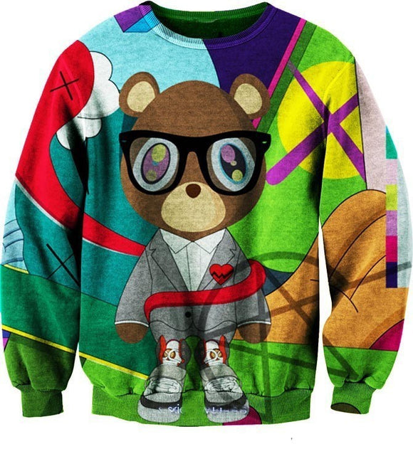 Kanye West 3D Bear Hip Hop Sweatshirt