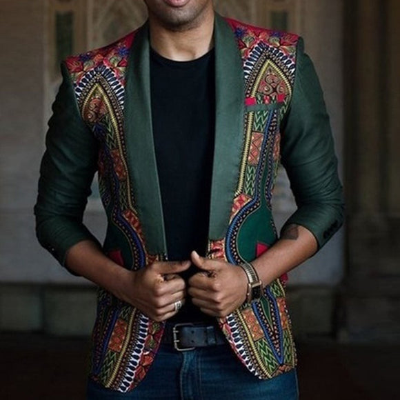 African Printed Dashiki Cardigan Jacket
