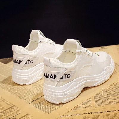 Women Lace-up Vulcanized Lycra Sneakers
