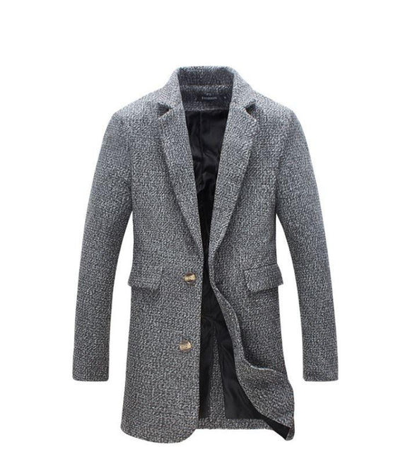 40 % Wool Thick Pea Trench Coat