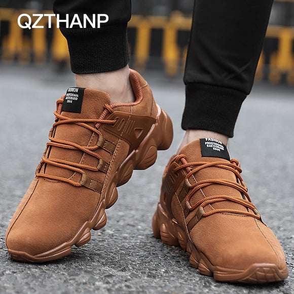 Men Breathable Loafers Suede Sneakers