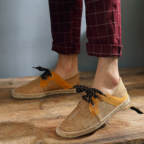 Fly Fabric Hemp Insole Fisherman Light Espadrille Shoes