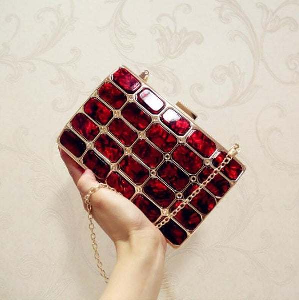 Acrylic Luxury Evening Party Clutch