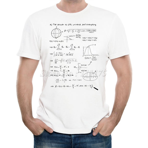 Men's Math Answer of Life Printed T-shirt