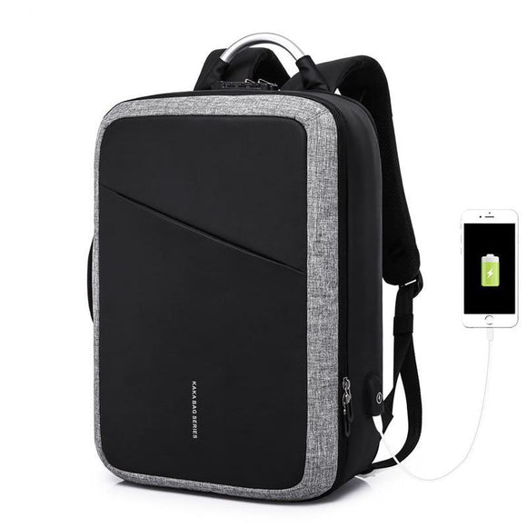 Men Anti theft Waterproof Travel 15.6 Laptop Backpack with USB charging
