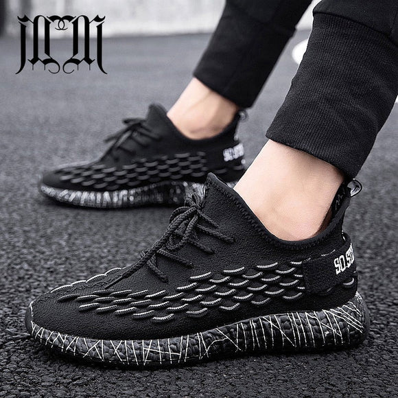 Black Gray Embossing Wave Pattern Sneakers