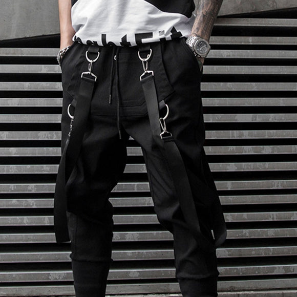 Drawstring Casual Punk Hip Hop Cargo Trousers