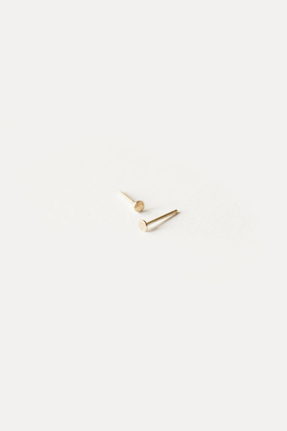 Gold Dot Earrings- 2mm