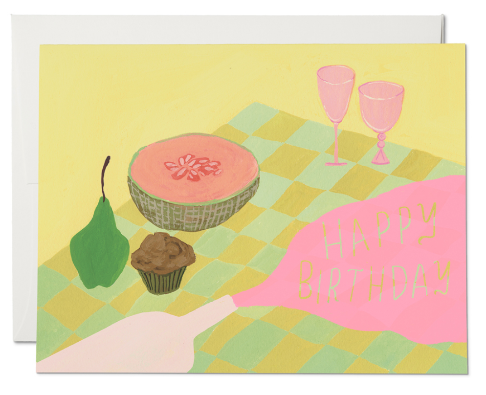 Birthday Wine Greeting Card