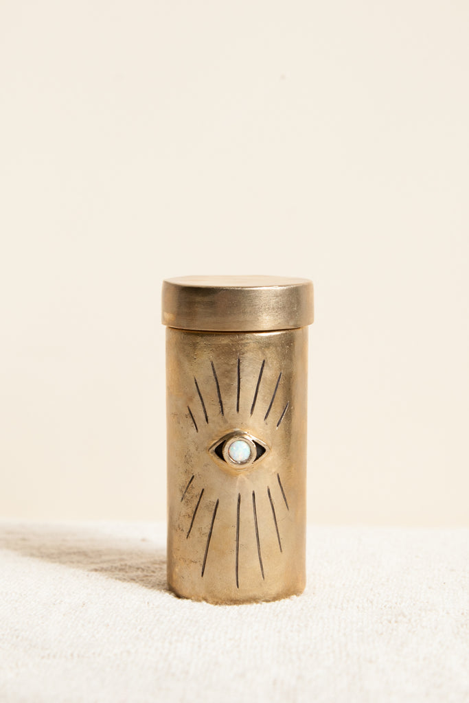 Eye Stash Jar with Opal