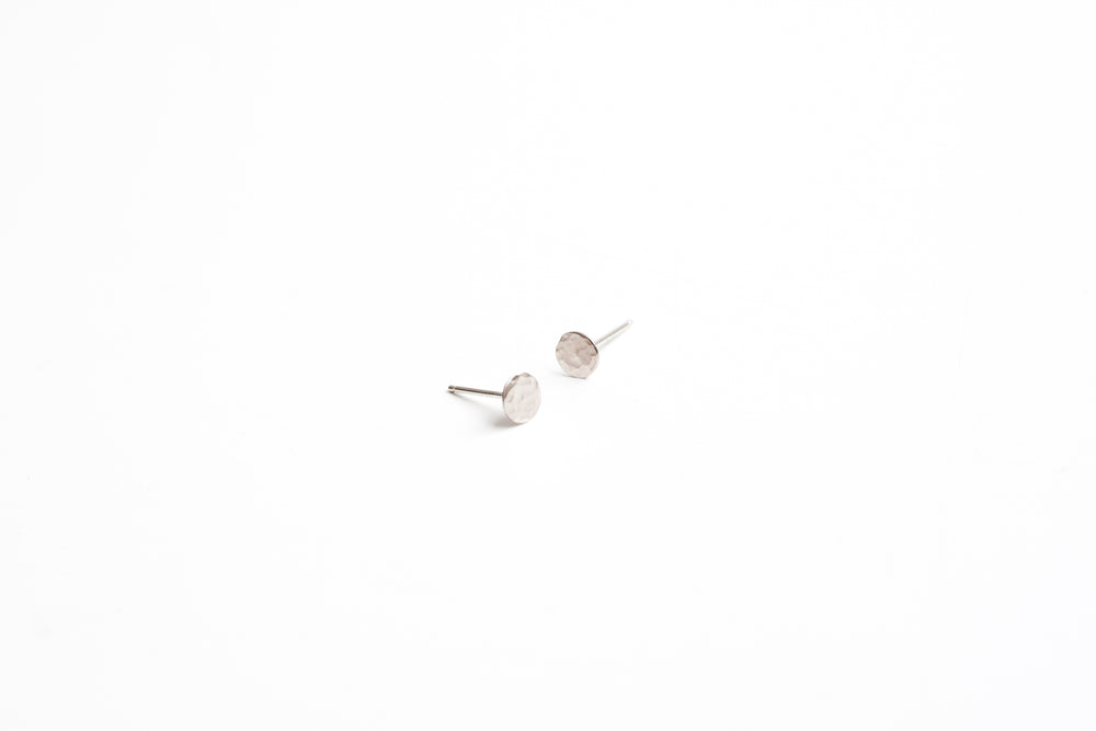 Silver Dot Earrings - 6mm