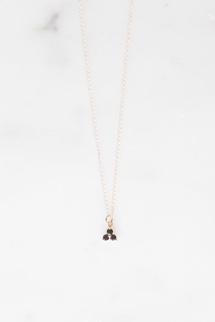 Cluster Necklace - Onyx