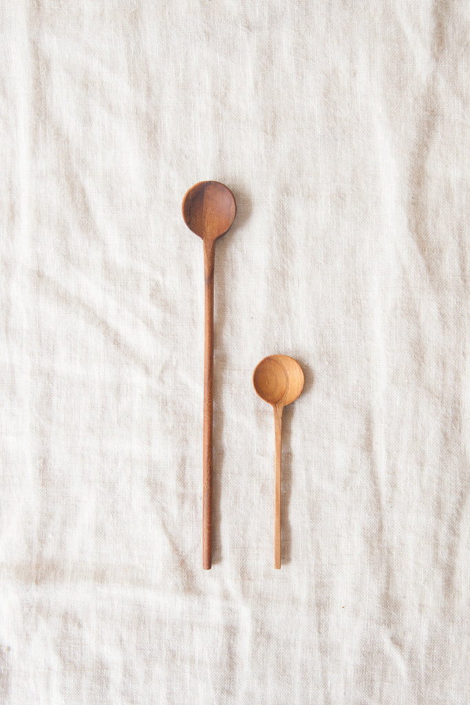 Teak Salt Spoon