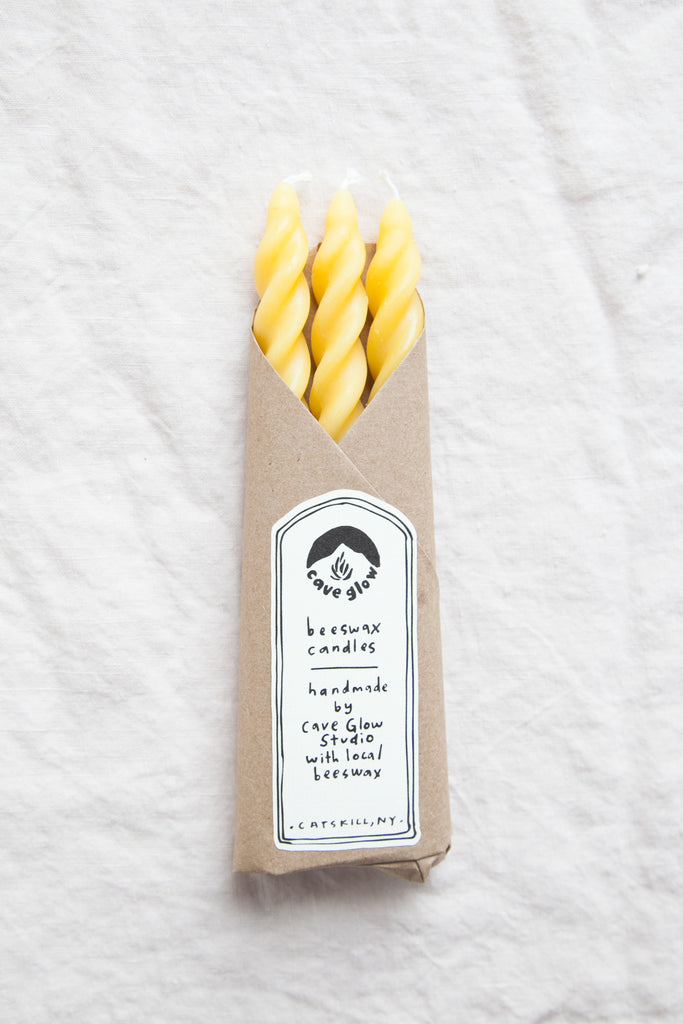 Beeswax Spiral Candle Set