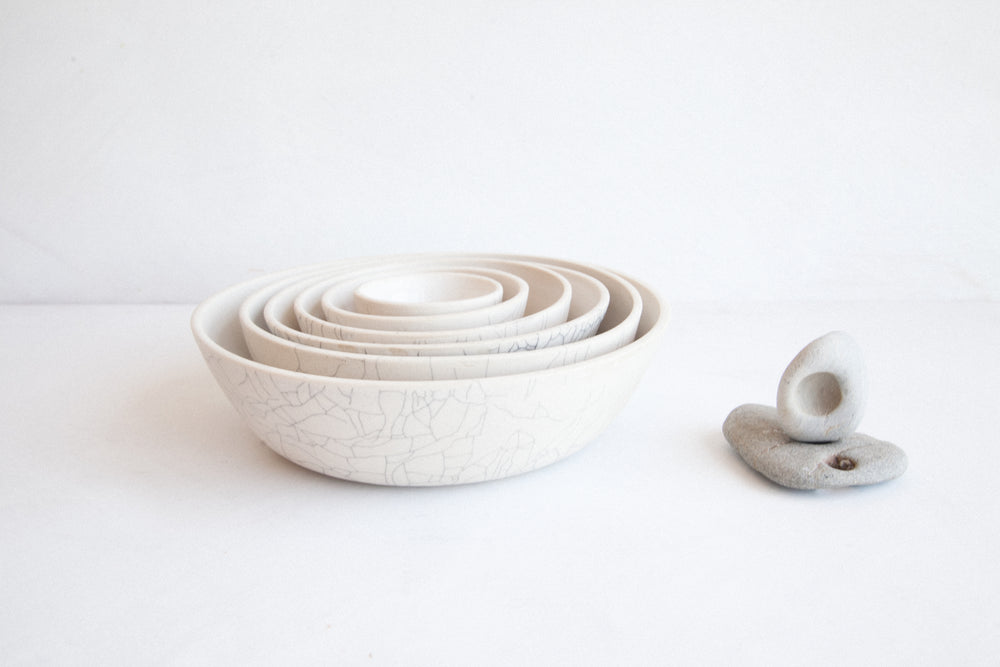 Nesting Bowls - Full Set / Crackle
