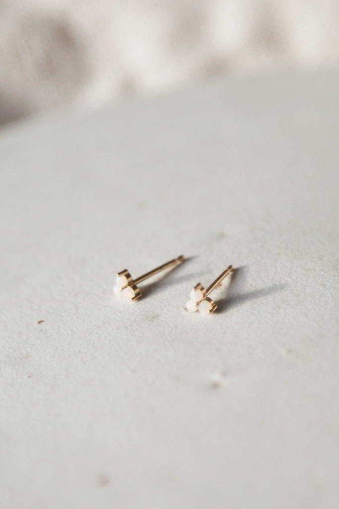 Cluster Studs - 3 Opal