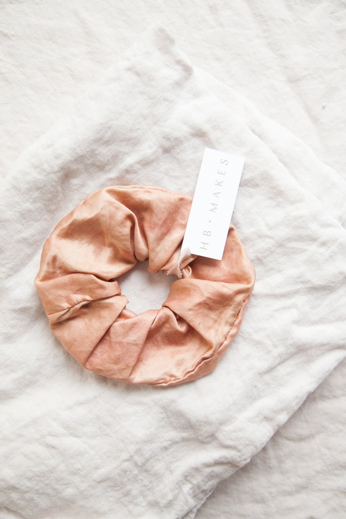 Botanically Dyed Silk Scrunchy