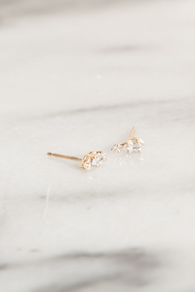 Marquise Diamond + Accent Studs