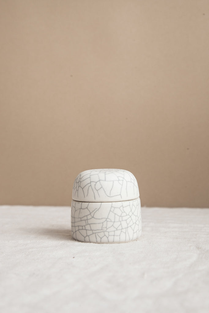 Salt Box / Jewelry Box - Crackle