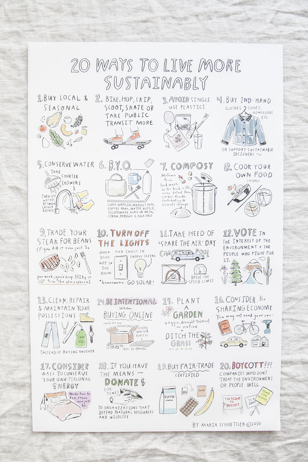 Live More Sustainably Print