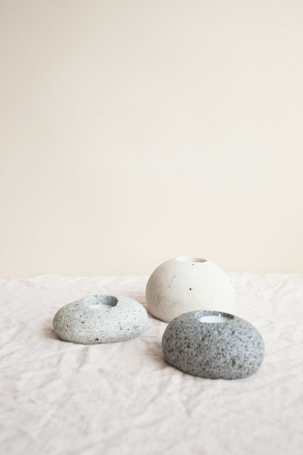 Beach Stone Tea Light