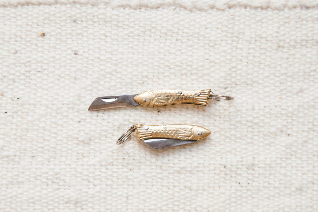 Folding Fish Knife Keychain