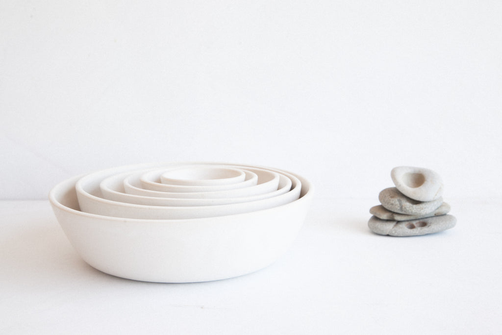 Nesting Bowls - Full Set / Snow