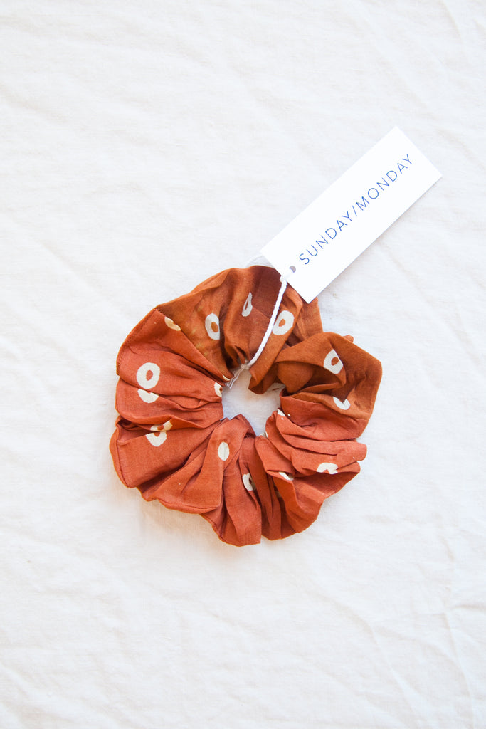 Blockprint Scrunchies