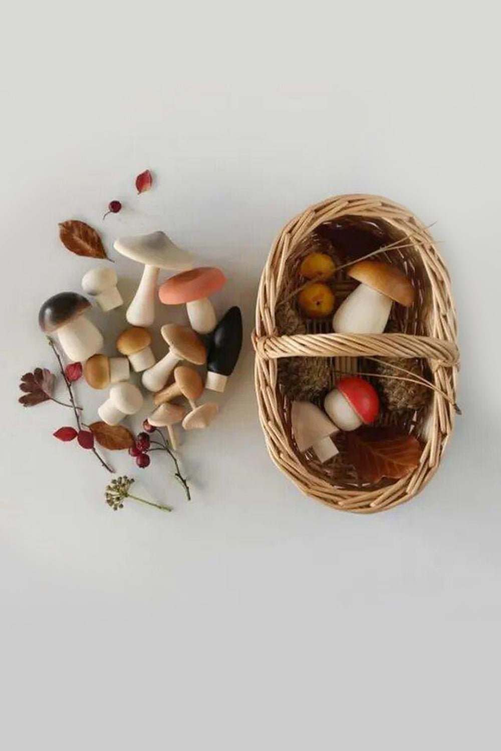 Forest Mushroom Basket - Interactive Toy