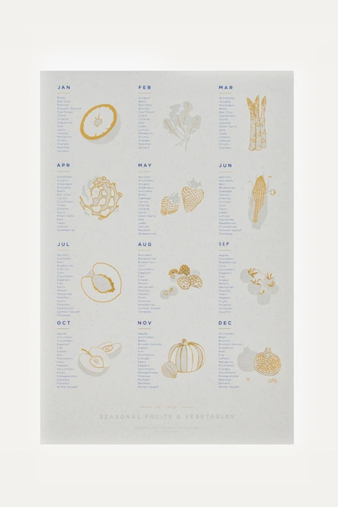 Seasonal Fruit and Vegetable Print