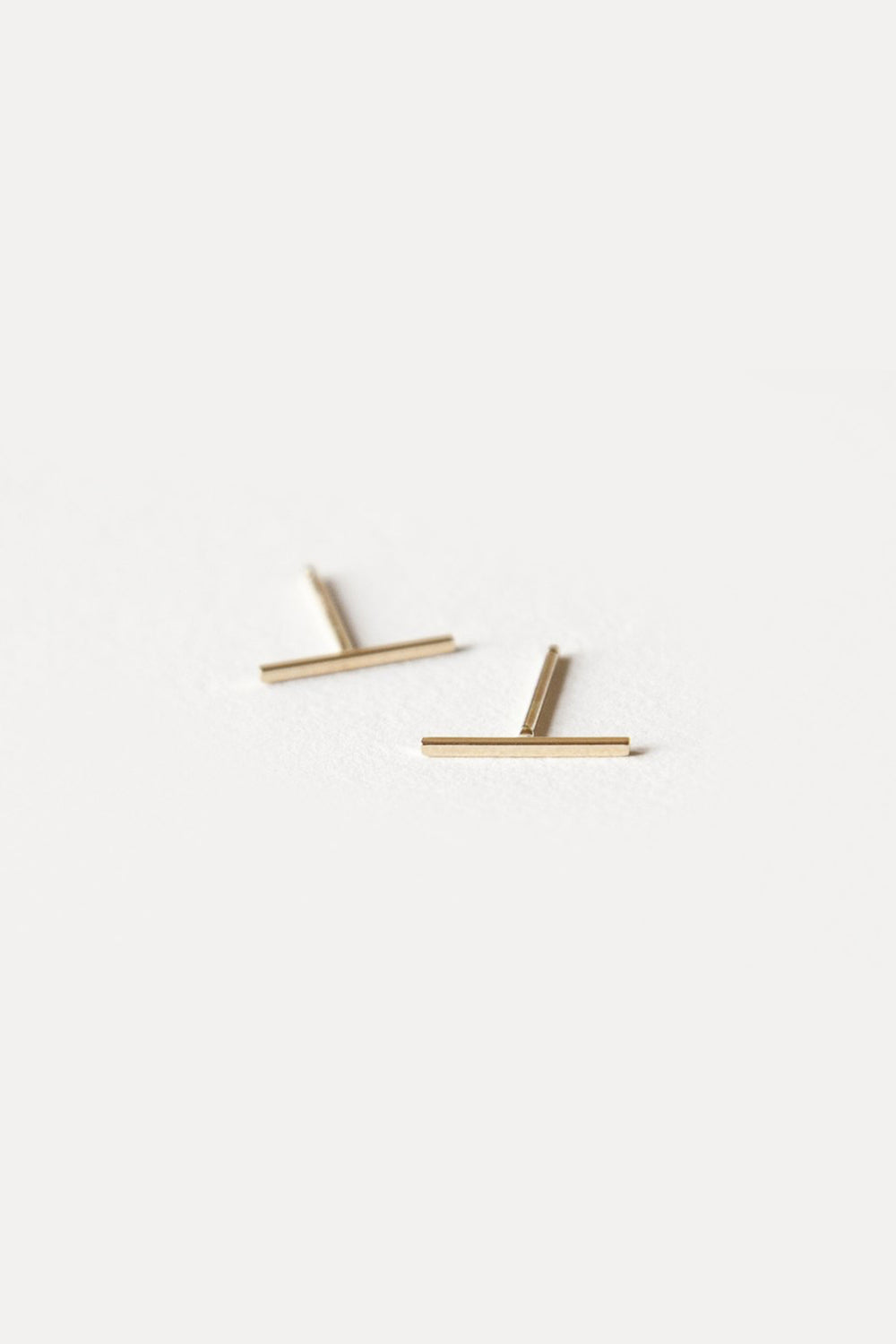 Gold Bar Earrings - 10mm