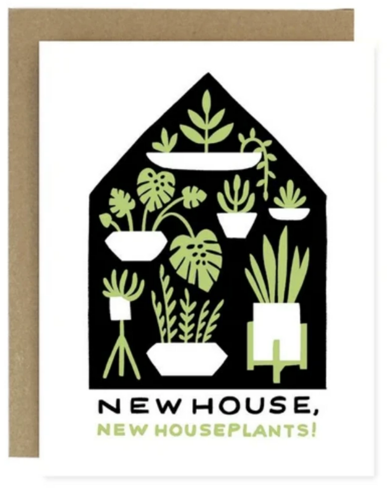 New House New Plants Greeting Card