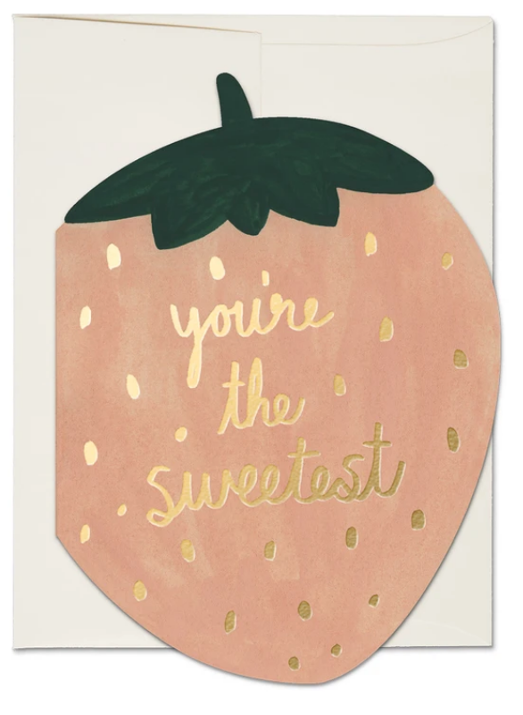 Sweetest Strawberry Greeting Card