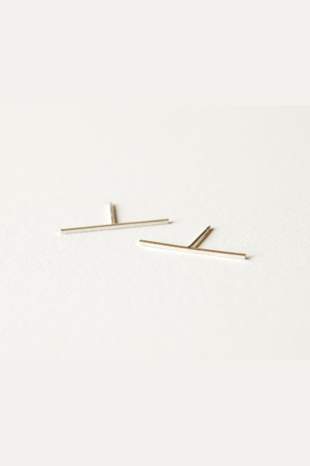 Silver Bar Earrings - 20mm