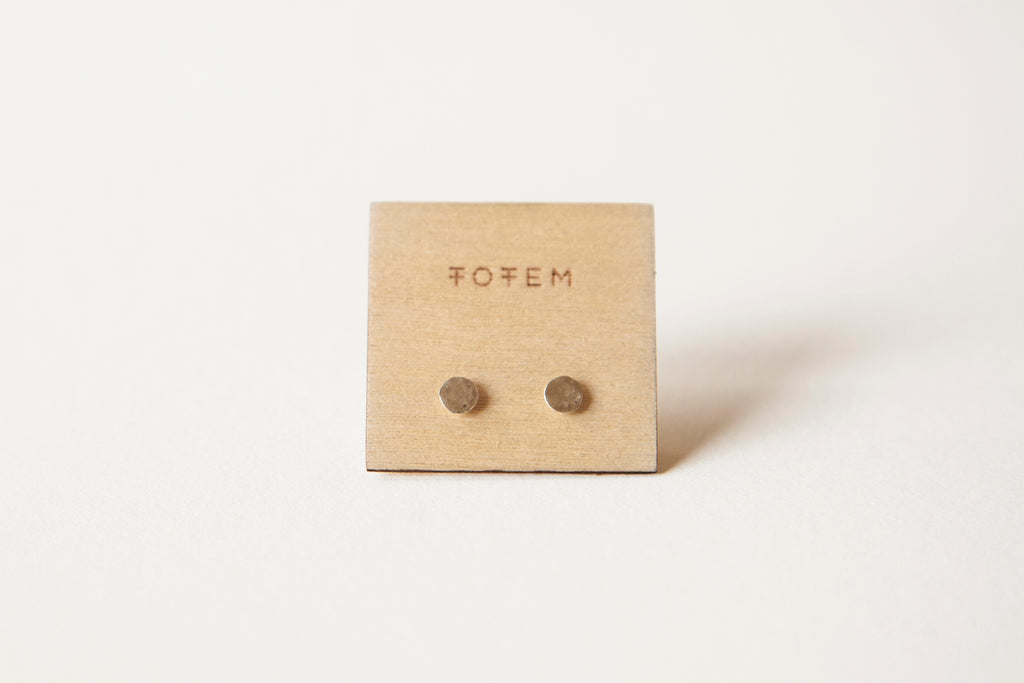 Silver Dot Earrings - 4mm