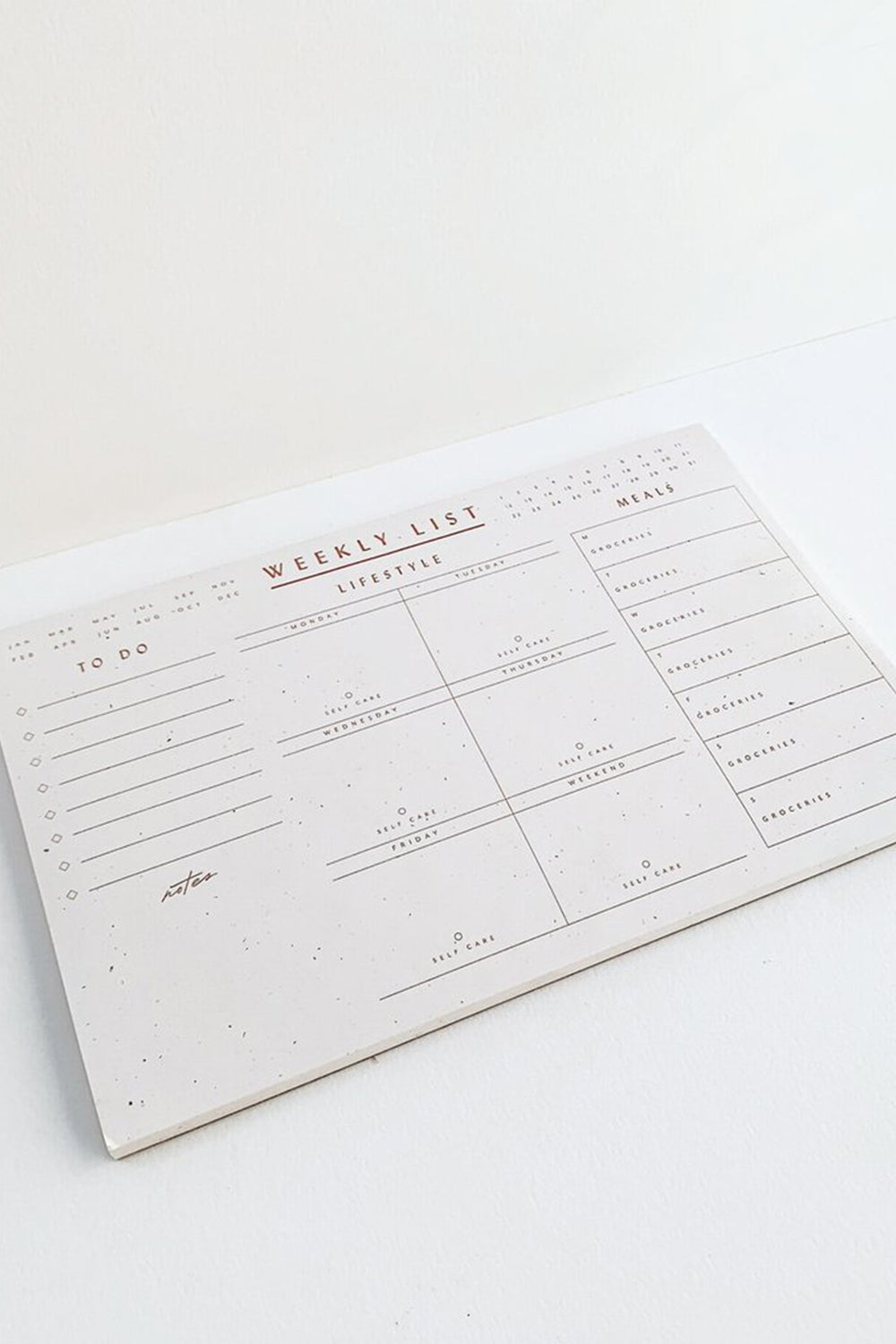 Weekly List Notepad