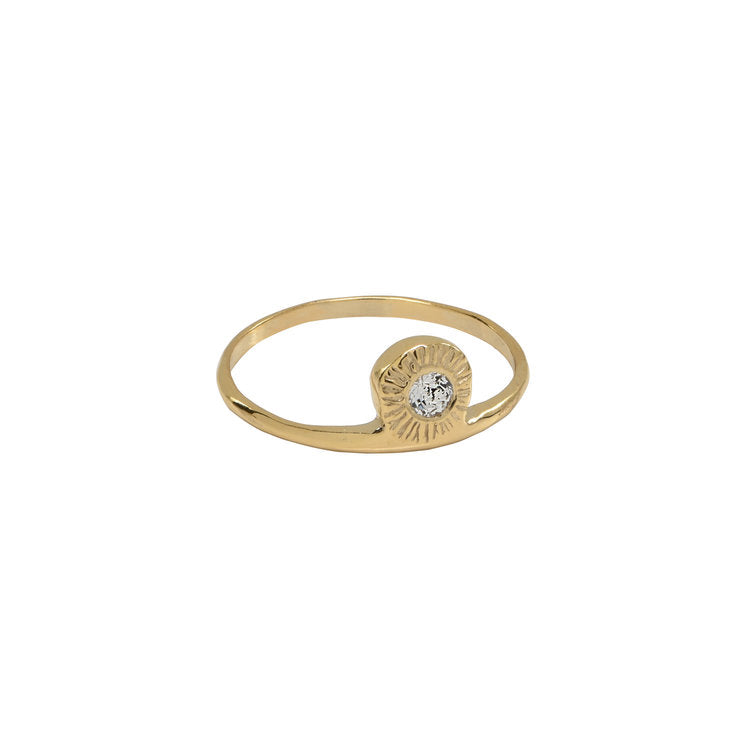 Side Solitaire Ring