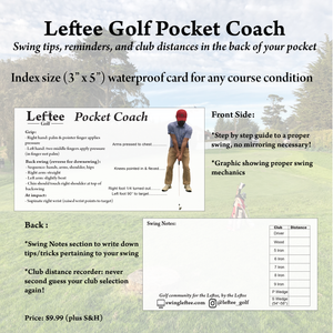 Leftee Golf Pocket Coach
