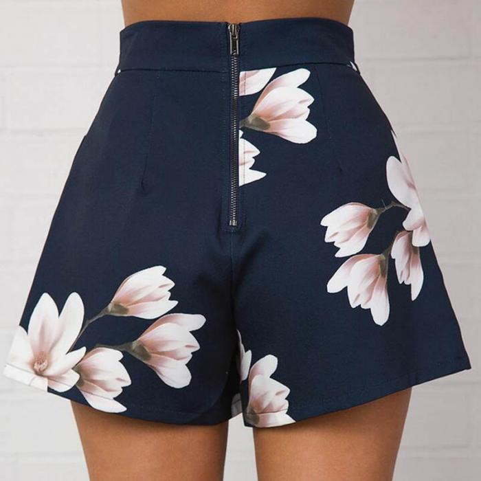 Sexy Summer Flower Printed Trouser Shorts