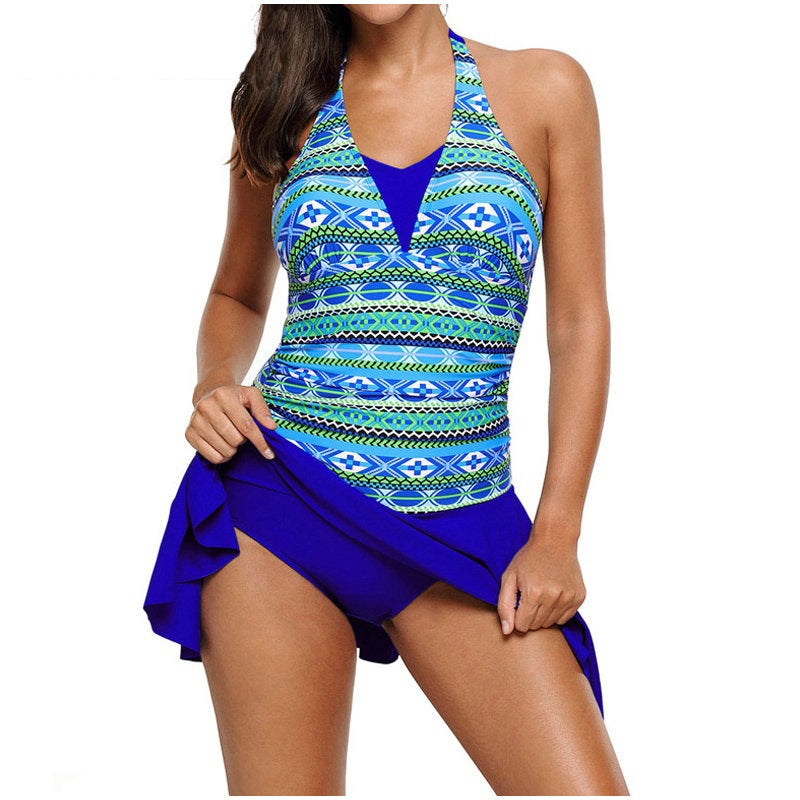 Retro Dress One Piece Swimsuit
