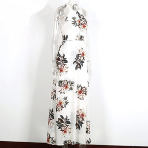 Sexy Backless Floral Print Split Maxi Beach Dress
