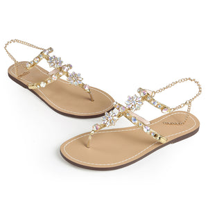 Sexy Gladiator Rhinestones Chain Sandals