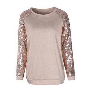 Long Sleeve Sequin T-Shirt