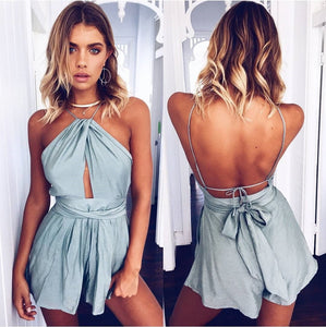 Sexy Casual Halter Beach Play Suit Romper