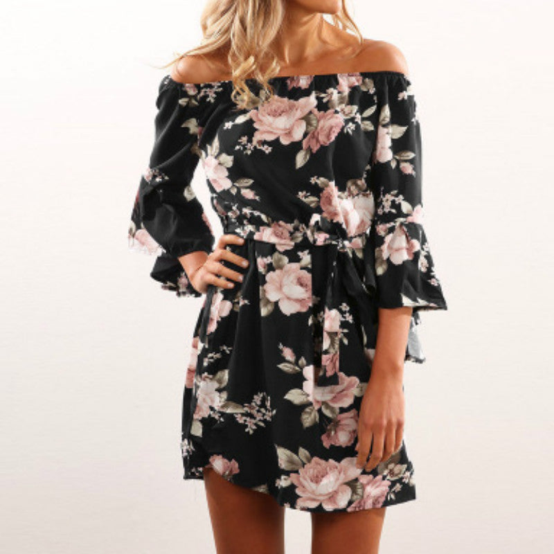 Summer Floral Print Mini Dress