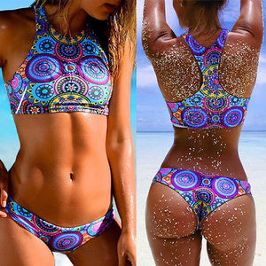 2-Piece Sexy Padded Push Up Multi Color Bikini