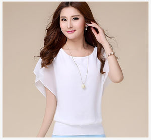 Ruffle Short Sleeve Shirt