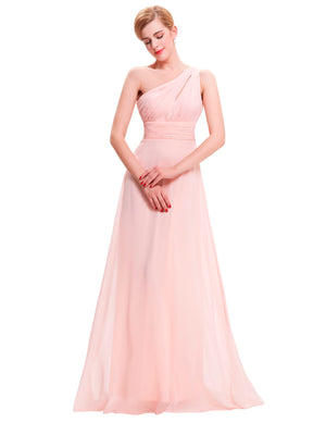 One Shoulder Long Prom Princess Dress